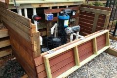 Treated Pine Crib wall & pump house