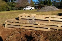 Treated Pine Crib wall preparation