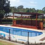 Hardwood pergola & harvest fibreglass pool, Aussie Hideaway